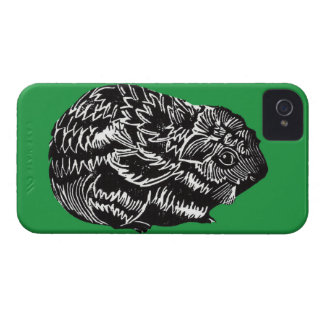 Guinea Pig with Green Background iPhone 4 Case
