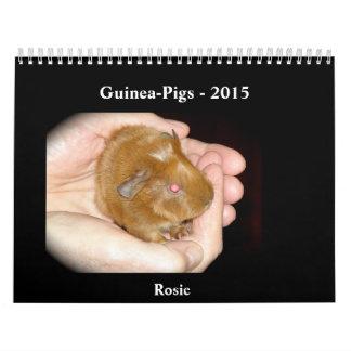 Guinea-Pigs - 2015 Wall Calendar