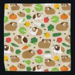 """Guinea Pigs And Their Treats Bandana<br><div class=""""desc"""">Cute guinea pigs and their treats.</div>"""