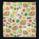 "Guinea Pigs And Their Treats Bandana<br><div class=""desc"">Cute guinea pigs and their treats.</div>"