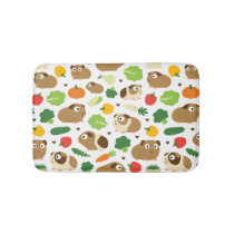 Guinea Pigs And Their Treats Bath Mat