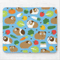 Guinea Pigs And Their Treats Mouse Pad