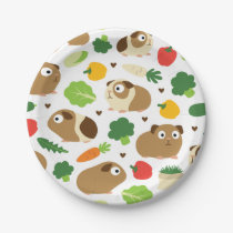 Guinea Pigs And Their Treats Paper Plate