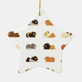 Guinea pigs ceramic ornament
