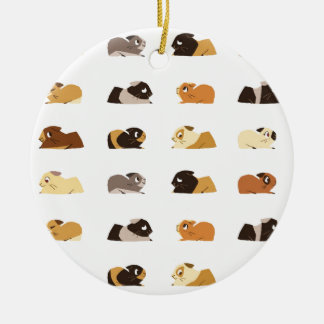 Guinea pigs ceramic ornament