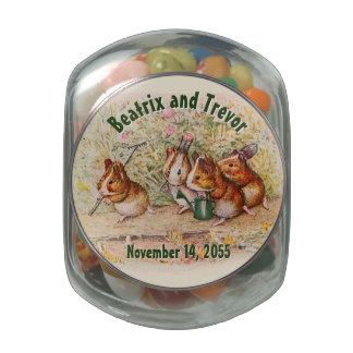 Guinea Pigs Garden Wedding Gift Glass Candy Jars