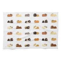Guinea pigs hand towel