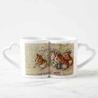 Guinea Pigs in the Garden Planting Seeds Coffee Mug Set