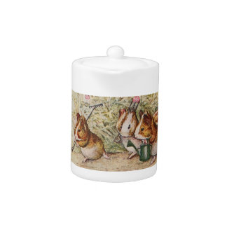 Guinea Pigs in the Garden Planting Seeds Teapot