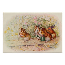 Guinea Pigs in the Garden Poster