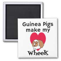 Guinea Pigs Make My Heart Wheek Magnet