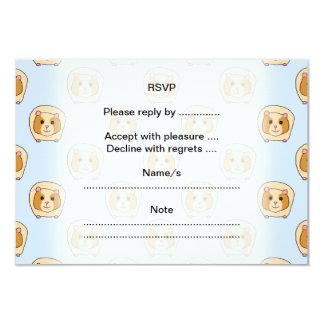 Guinea Pigs on Blue. 3.5x5 Paper Invitation Card