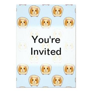 Guinea Pigs on Blue. 5x7 Paper Invitation Card