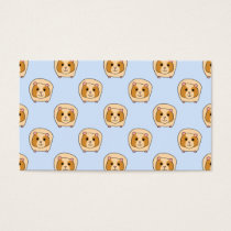 Guinea Pigs on Blue. Business Card