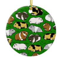 Guinea pigs pattern ceramic ornament