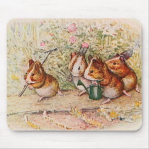 Guinea Pigs Planting in the Garden Mouse Pad