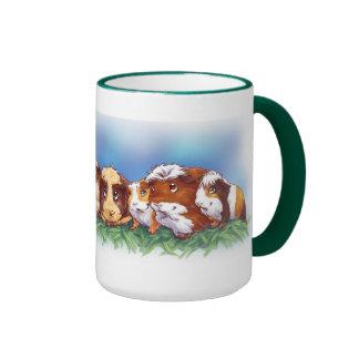 Guinea Pigs Ringer Coffee Mug