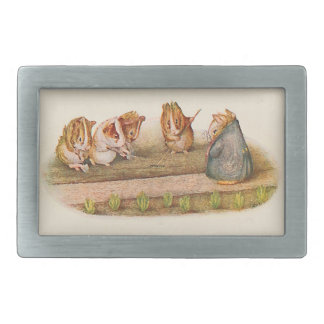 Guinea Pigs Tending Garden Belt Buckle