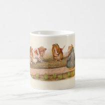 Guinea pigs tending garden coffee mug