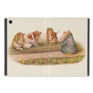 Guinea Pigs Tending the Garden Illustrated Cover For iPad Mini