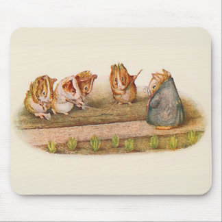 Guinea Pigs Tending the Garden Illustrated Mouse Pad