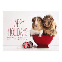 Guinea pigs with Christmas ball Card
