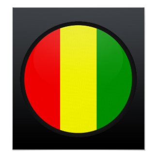 Guinea quality Flag Circle Print