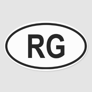 """Guinea """"RG """" Pegatinas De Oval"""