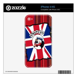 Guineafowl punky calcomanías para el iPhone 4S