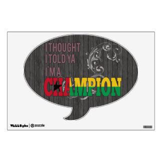Guinean and a Champion Wall Decal