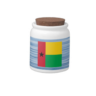 Guinean Flag Floating on water Candy Jar