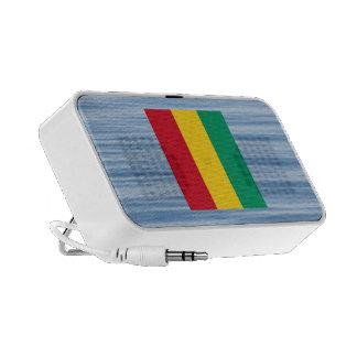 Guinean Flag Floating on water Notebook Speakers