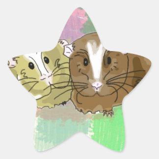 Guineapig Buddies Design Star Sticker
