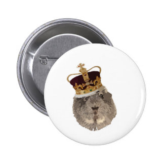 Guineapig in a crown button