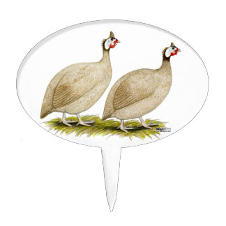 Guineas Buff Dundotte Fowl Cake Topper