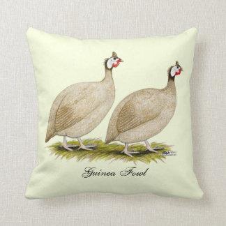 Guineas Buff Dundotte Fowl Throw Pillow