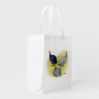 Guineas Purple, Coral Blue and Lavender Grocery Bag