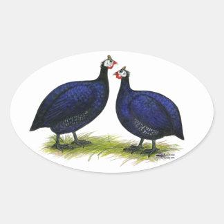Guineas Royal Purple Pair Oval Sticker