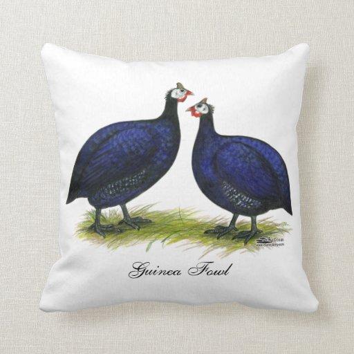 Guineas Royal Purple Pair Throw Pillow Zazzle