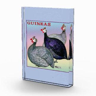 Guineas Three Fowl Acrylic Award