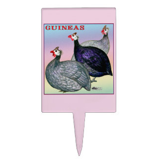 Guineas Three Fowl Cake Topper