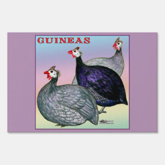 Guineas Three Fowl Sign