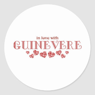 Guinevere Classic Round Sticker