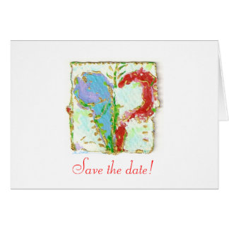 guinevere heart on save the date c... card