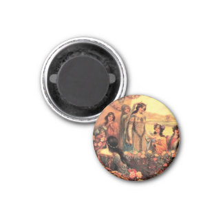 Guinevere in Camelot 1 Inch Round Magnet