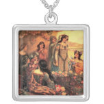 Guinevere in Camelot Square Pendant Necklace