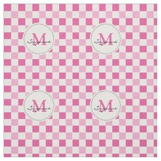 Guinga a cuadros del tono rosado blanco telas