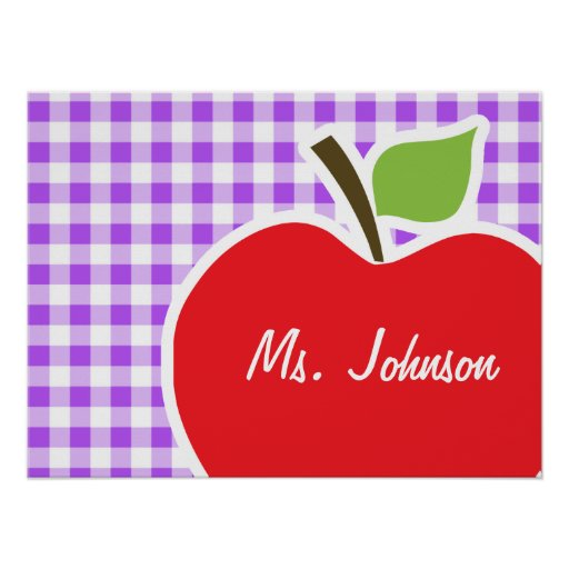 Guinga a cuadros púrpura; Apple Impresiones
