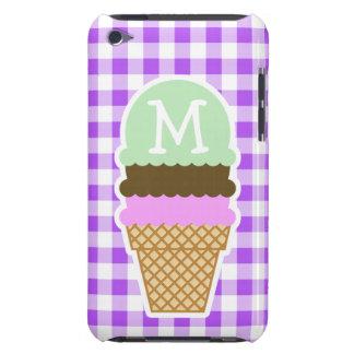 Guinga a cuadros púrpura Cono de helado iPod Touch Coberturas