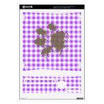 Guinga a cuadros púrpura; Perro divertido Consola Xbox 360 S Skin